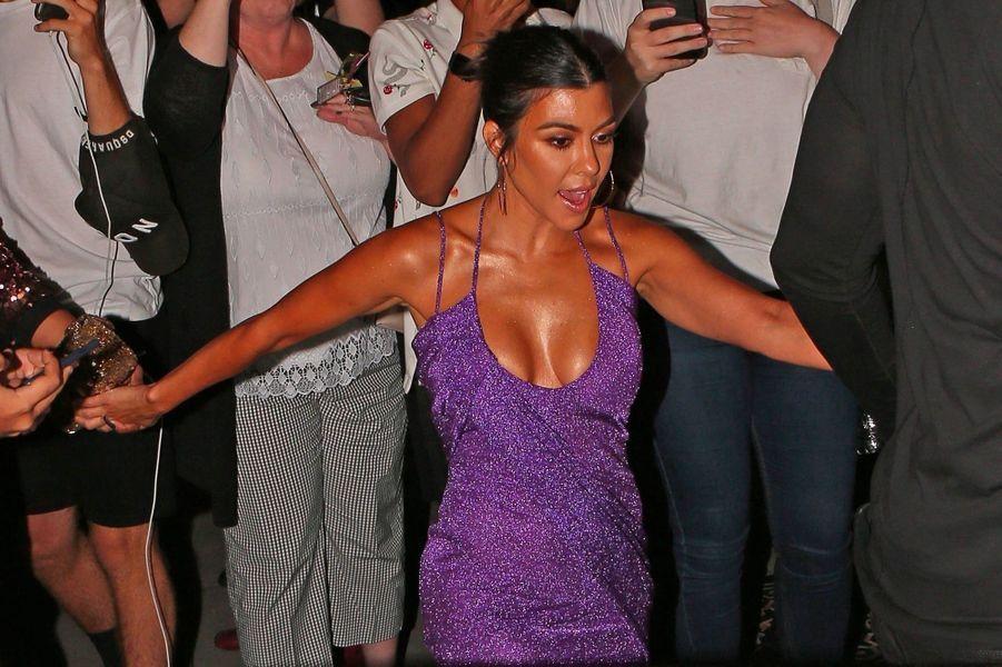 Kourtney Kardashian à la soirée d'anniversaire de Kylie Jenner le 9 août