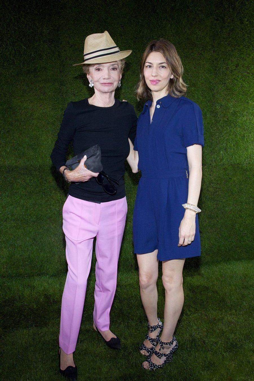 Lee Radziwill et Sofia Coppola en juillet 2011, lors d'un défilé Louis Vuitton.