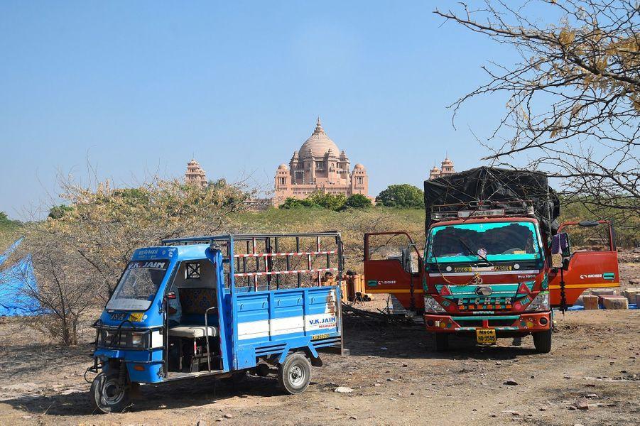 Les préparatifs du mariage ont commencé au Umaid Bhawan Palace, à Jodhpur en Inde
