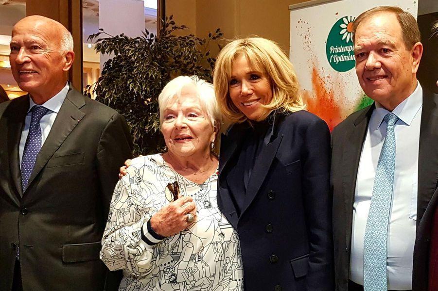 Thierry Saussez, Line Renaud, Brigitte Macron et Patrick Ollier.