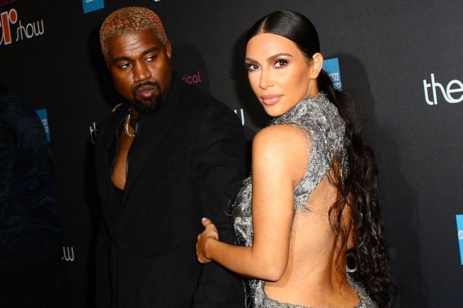 """Kim Kardashian et Kanye West à la première de """"The Cher Show"""" le 3 décembre 2018"""