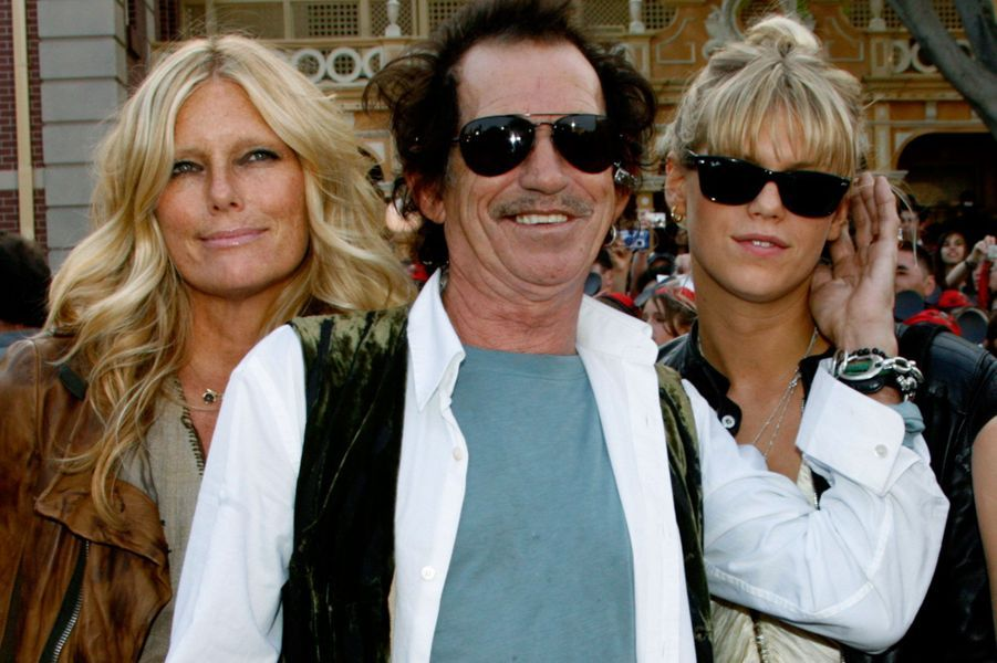 Keith Richards, Patti Hansen et leur fille Alexandra Richards.