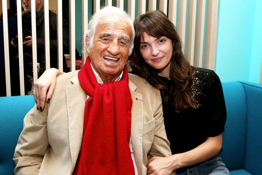 Annabelle Belmondo et son grand-père Jean-Paul Belmondo