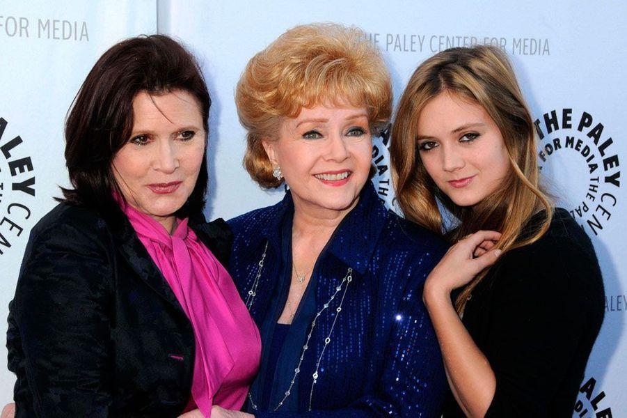 Billie Lourd, Debbie Reynolds et Carrie Fisher