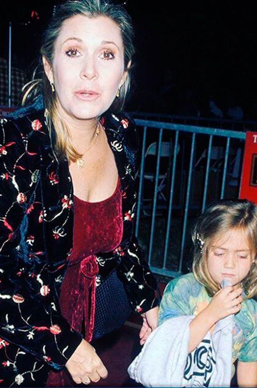 Billie Lourd et Carrie Fisher