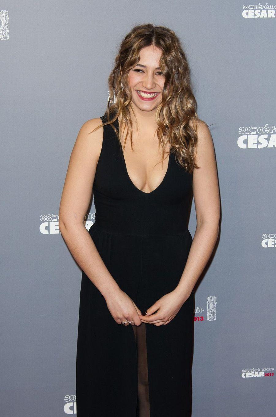 Izïa Higelin à la cérémonie des César, le 22 février 2013.