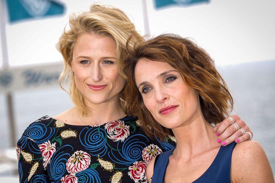 Mamie Gummer et Alix Poisson à Cannes en 2016.