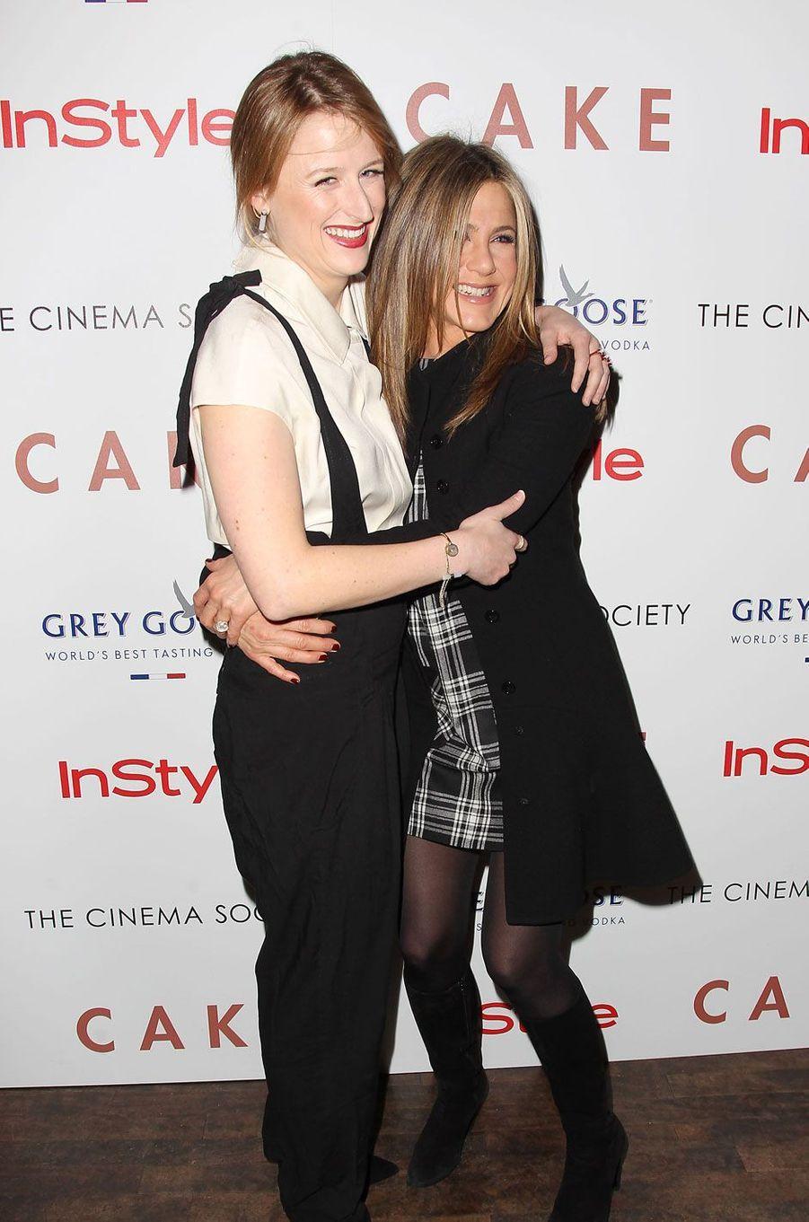 Mamie Gummer et Jennifer Aniston en 2014.