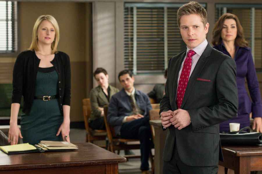 "Mamie Gummer dans ""The Good Wife""."