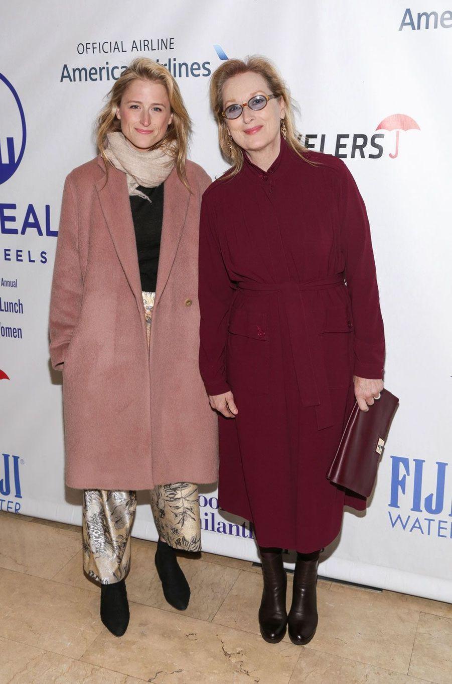 Mamie Gummer et sa mère Meryl Streep en 2015.