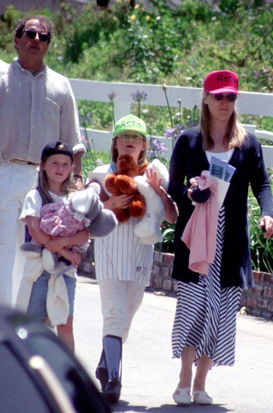 Meryl Streep ne 1994 avec ses filles Mamie et Grace