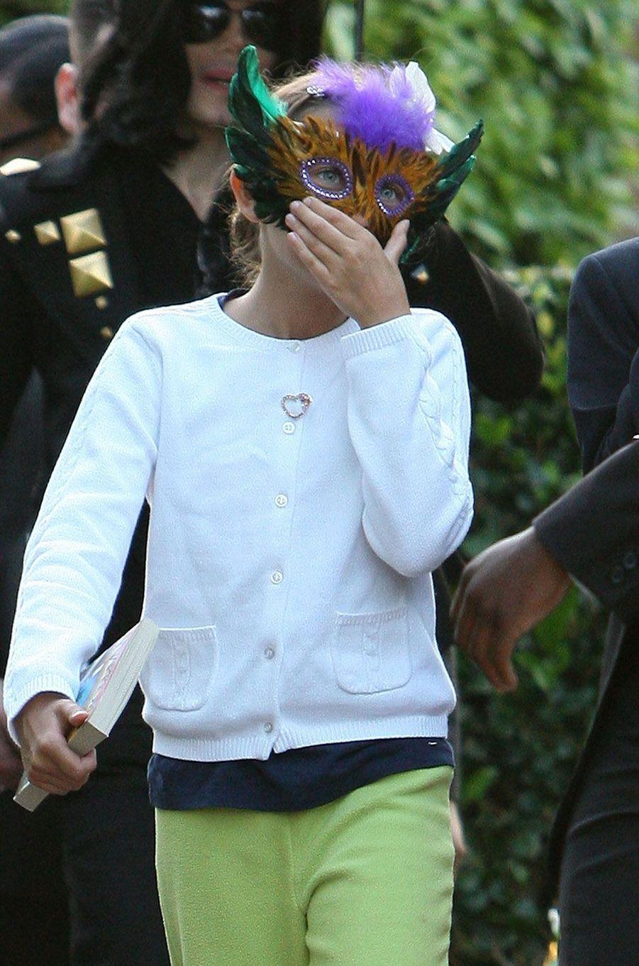 Paris Jackson derrière un masque