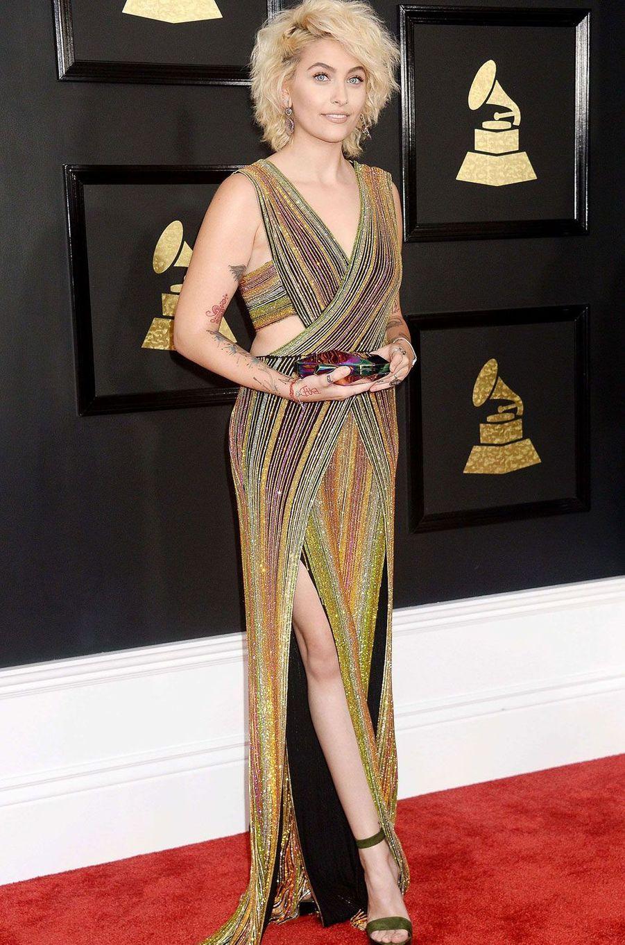 Paris Jackson à la cérémonie des Grammy Awards.