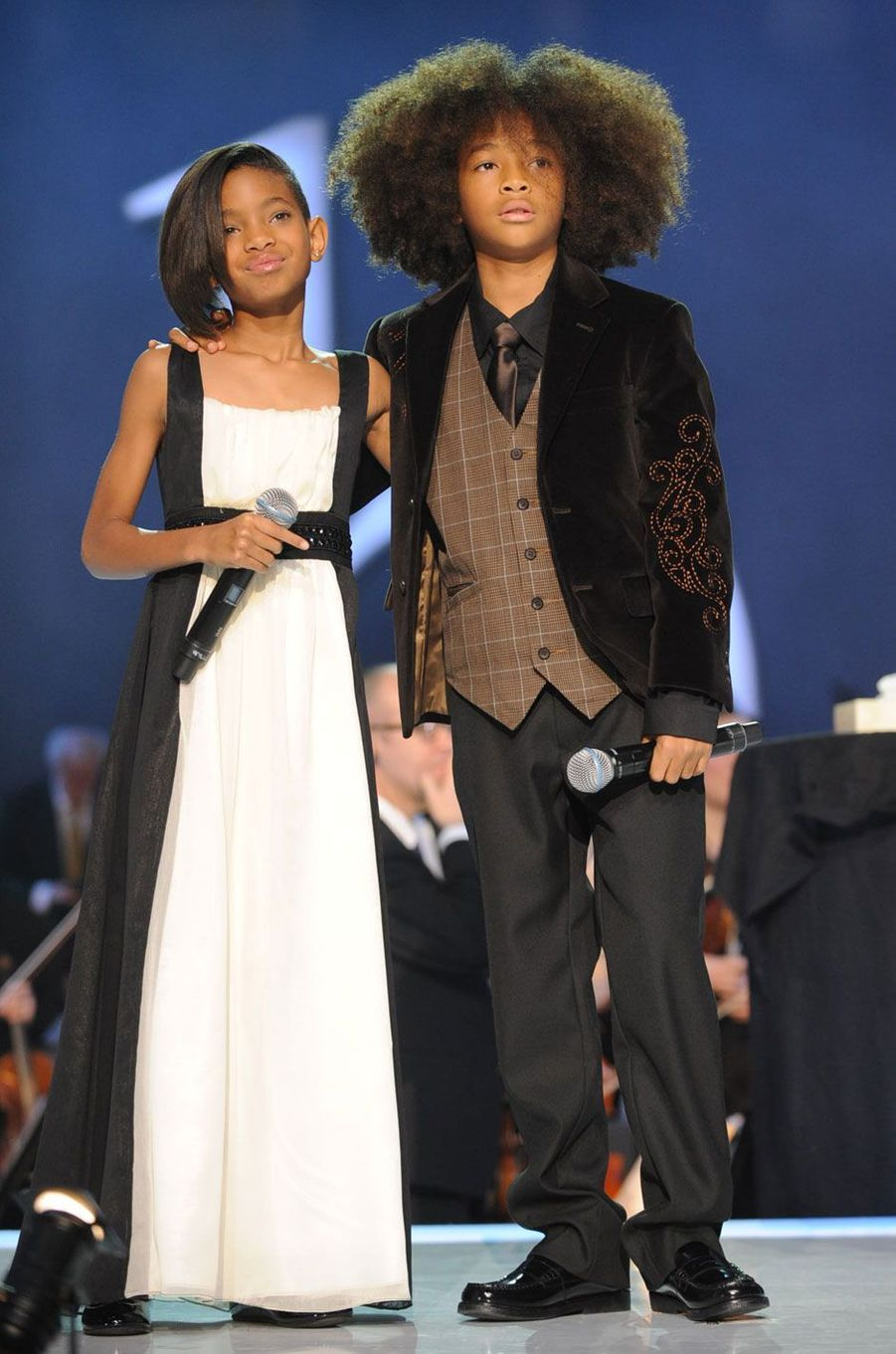 Willow Smith et son frère Jaden en 2009