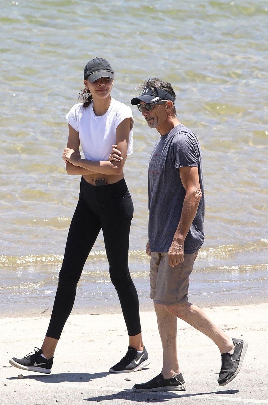 Nickelaya et George Rivera au lac Piru le 11 juillet 2020