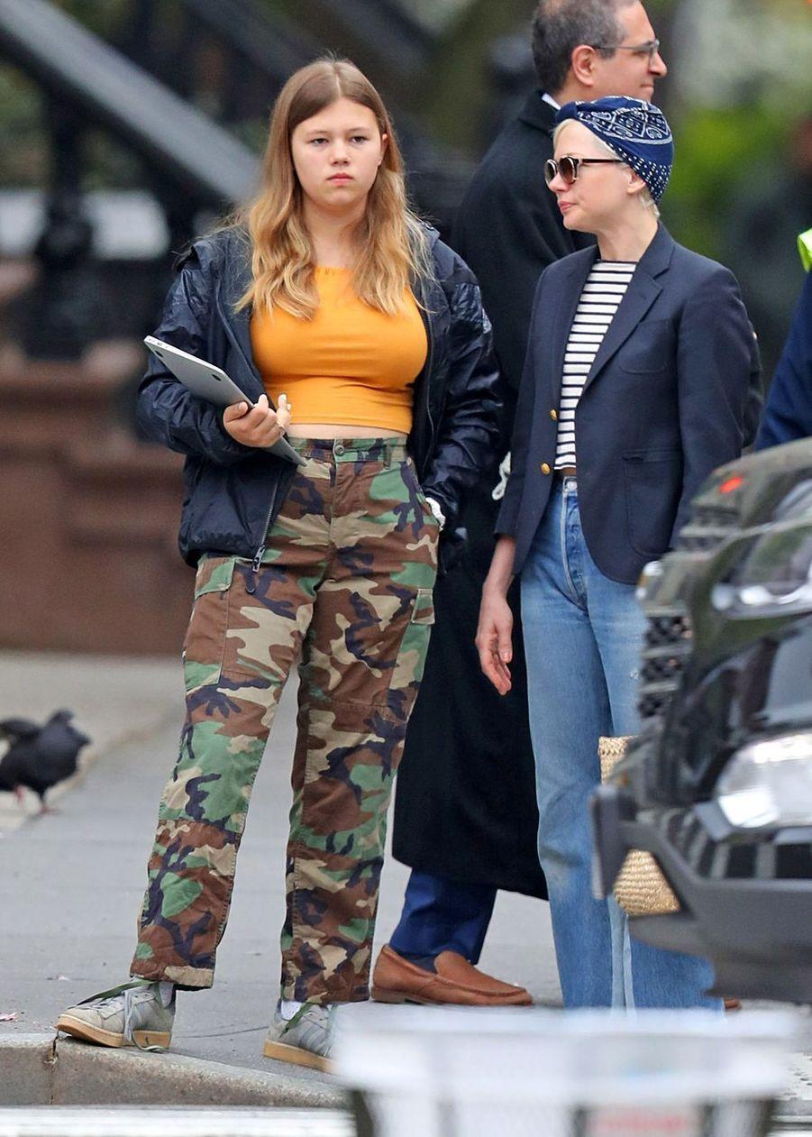 Michelle Williams et sa fille Matilda à New York le 6 mai 2019