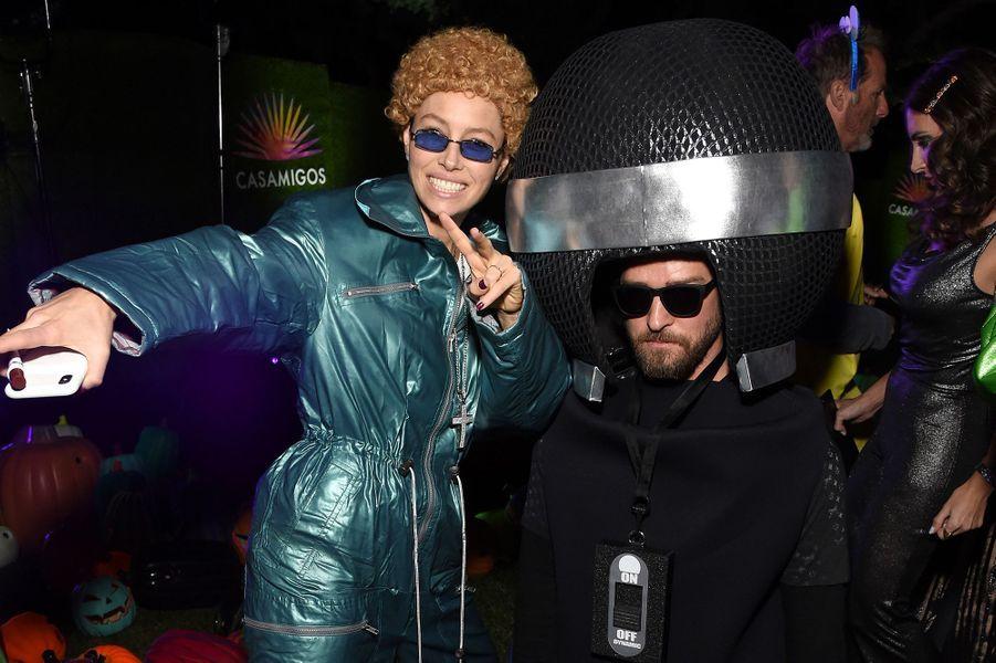 Jessica Biel et Justin Timberlakeà la soirée Casamigos organisée pour Halloween à Los Angeles le 25 octobre 2019