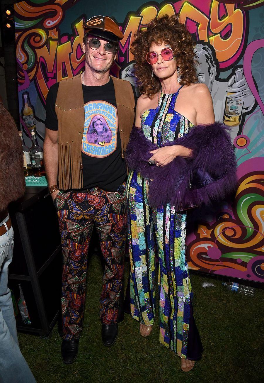 Rande Gerber et Cindy Crawford à la soirée Casamigos organisée pour Halloween à Los Angeles le 25 octobre 2019