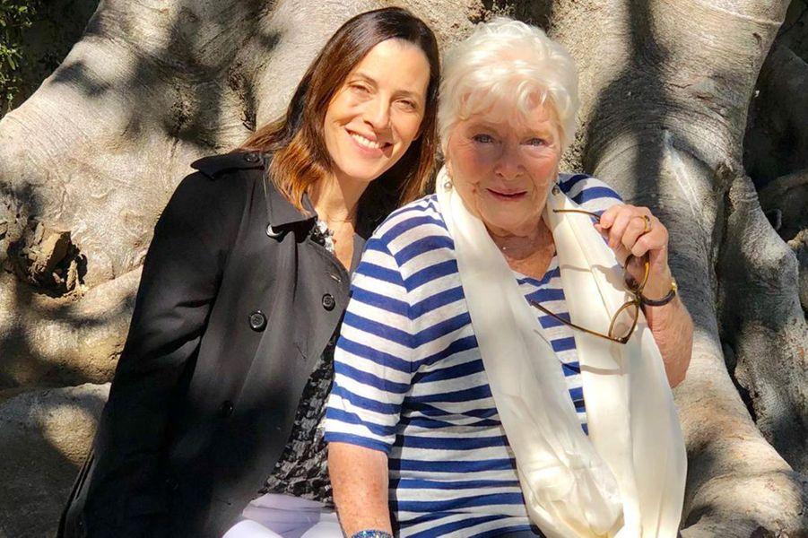 Avec Cécilia, la fille de Grégory Peck, à Los Angeles.