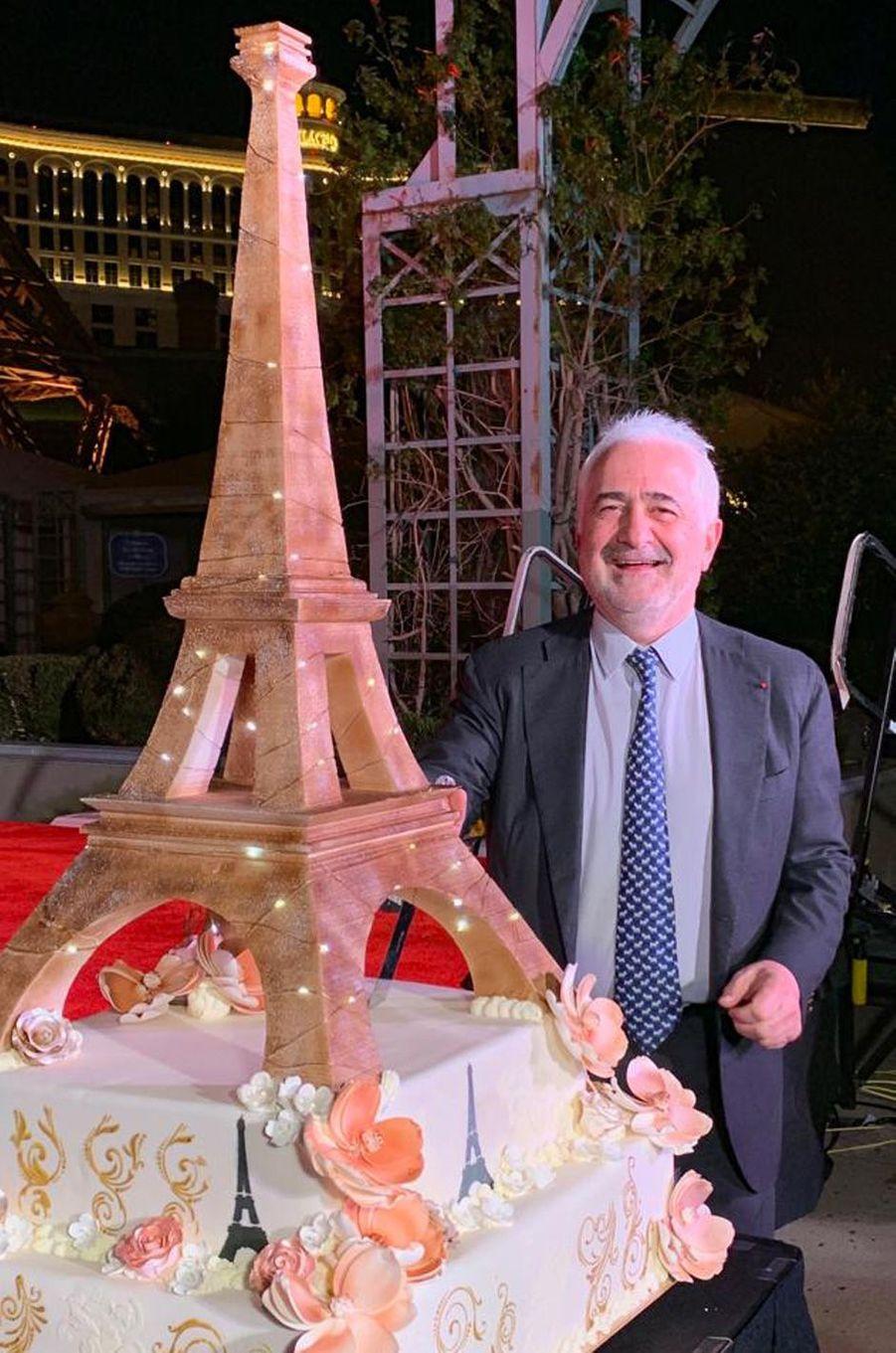 Le chef Guy Savoy aux 20 ans de l'hôtel Paris Las Vegas.