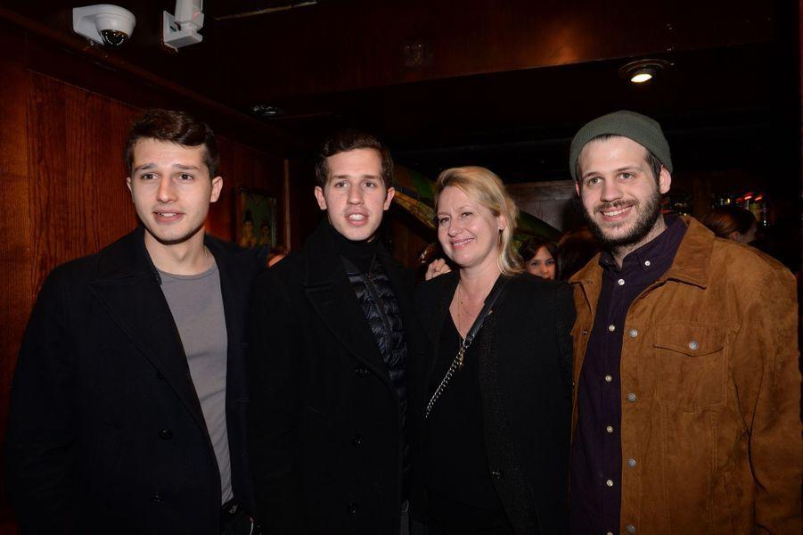 """Giacomo, Victor, Luana et Alessandro Belmondo à l'after-party du film """"Mon bébé"""" à Paris le 11 mars 2019"""