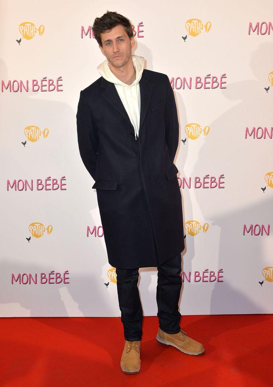 """Jean-Baptiste Maunierà l'avant-première du film """"Mon bébé"""" à Paris le 11 mars 2019"""