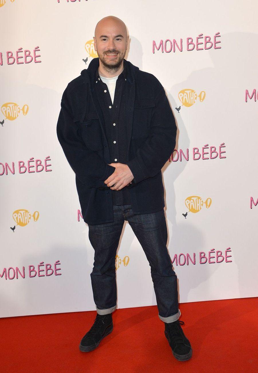 """Kyan Khojandià l'avant-première du film """"Mon bébé"""" à Paris le 11 mars 2019"""