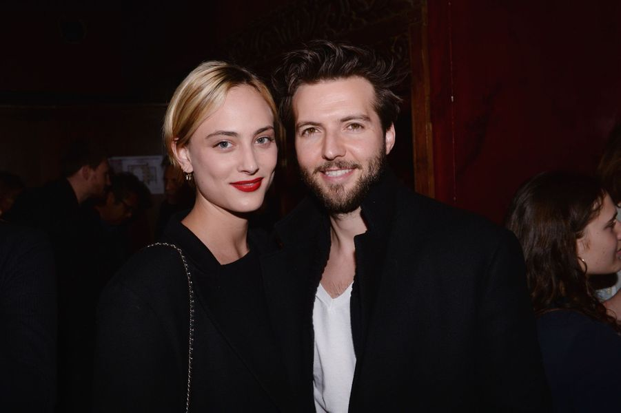 "Nora Arnezeder et son compagnon Guy Burnet à l'after-party du film ""Mon Bébé"" à Paris le 11 mars 2019"