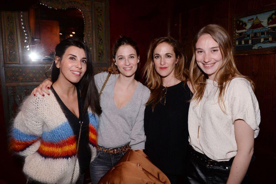 """Reem Kherici, Mélanie Bernier, Victoria Bedos et Deborah François à l'after-party du film """"Mon Bébé"""" à Paris le 11 mars 2019"""