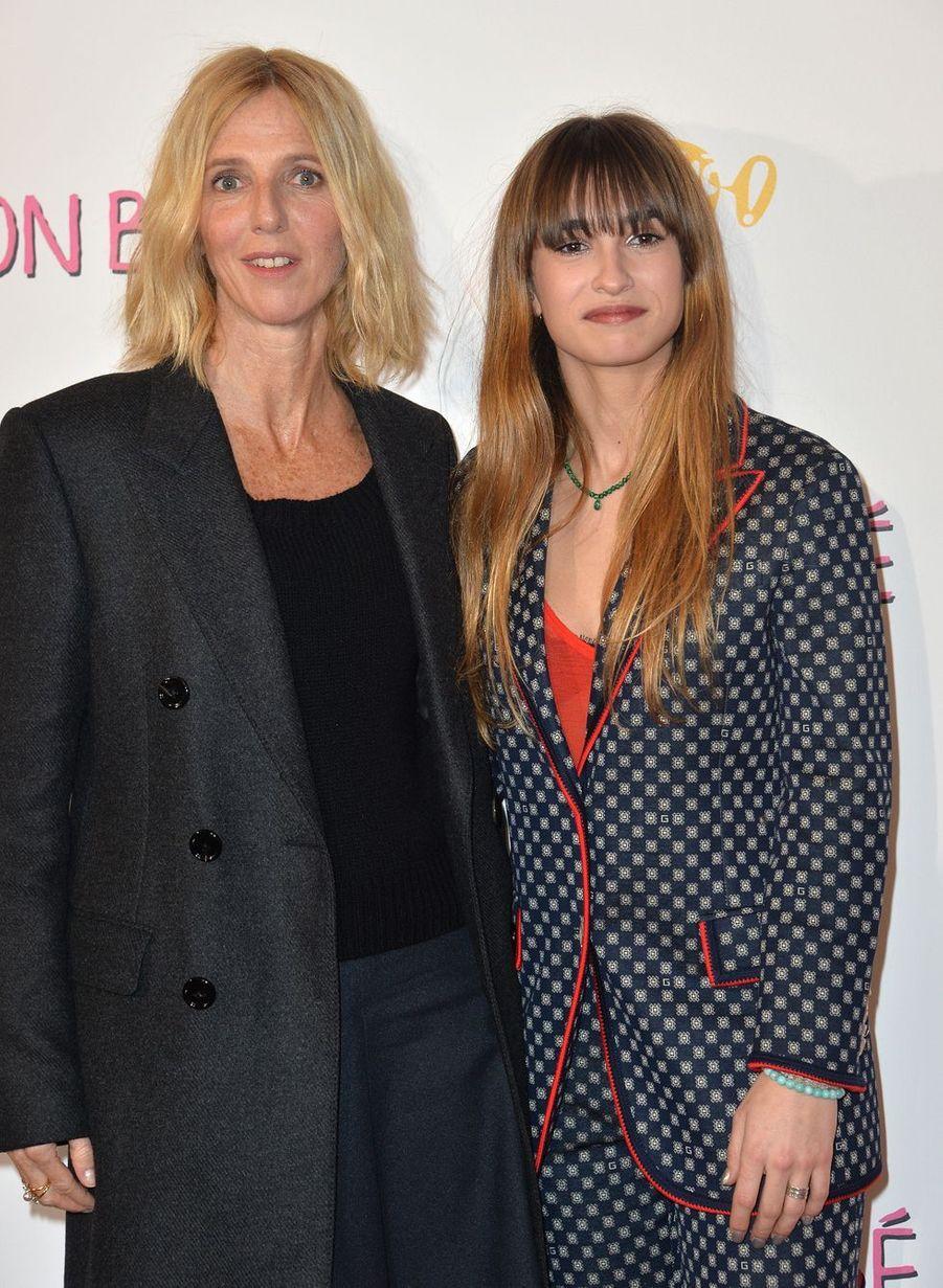 """Sandrine Kiberlain et Thaïs Alessandrin à l'avant-première du film """"Mon bébé"""" à Paris le 11 mars 2019"""
