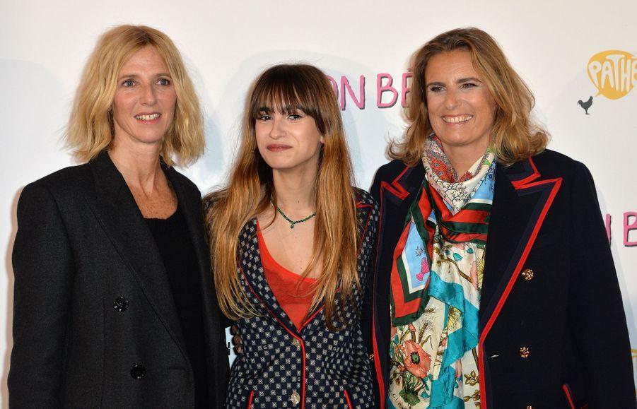 """Sandrine Kiberlain, Thaïs Alessandrin et Lisa Azuelos à l'avant-première du film """"Mon bébé"""" à Paris le 11 mars 2019"""