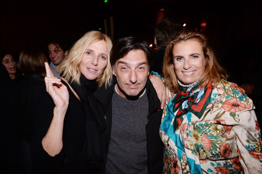 "Sandrine Kiberlain, Yvan Attal et Lisa Azuelos à l'after-party du film ""Mon Bébé"" à Paris le 11 mars 2019."