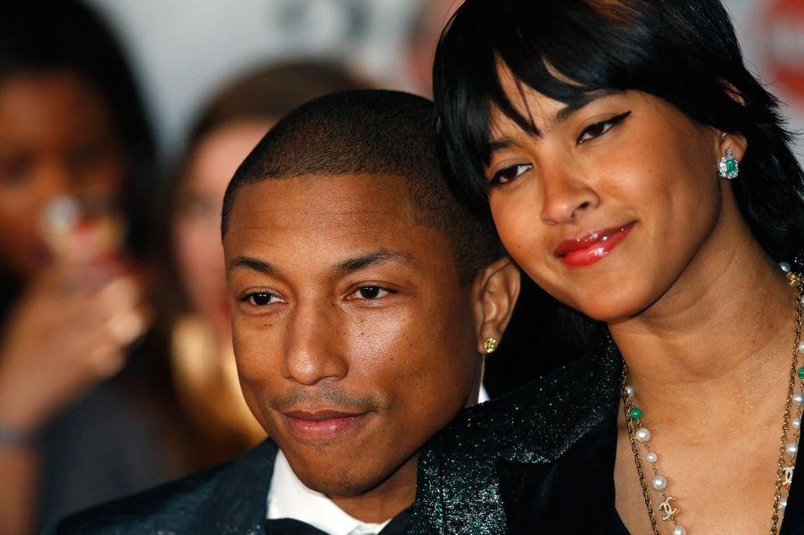 Pharrell Williams et sa femme en 2014