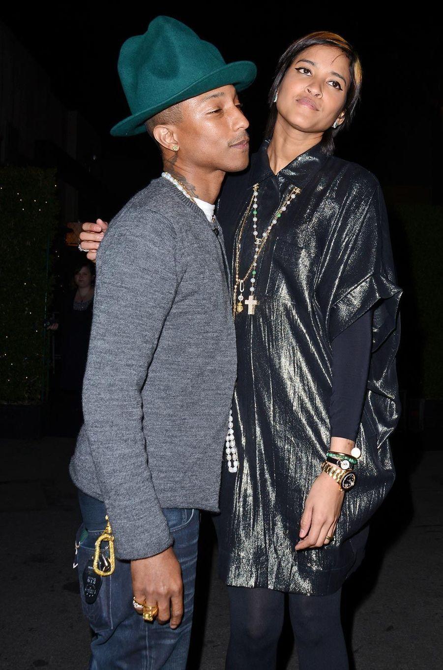 Pharrell Williams et sa femme à un gala en 2014.