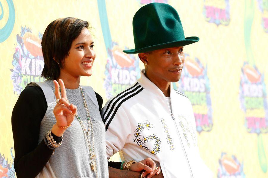 Pharrell Williams et sa femme Helen Lasichanh à Los Angeles en 2014