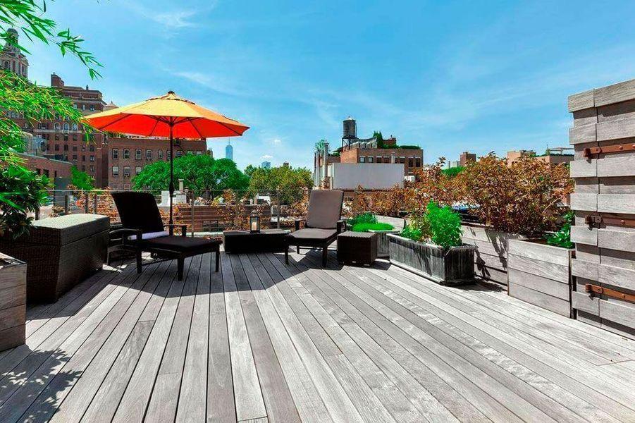 La terrasse de la maison de Meryl Streep à New York