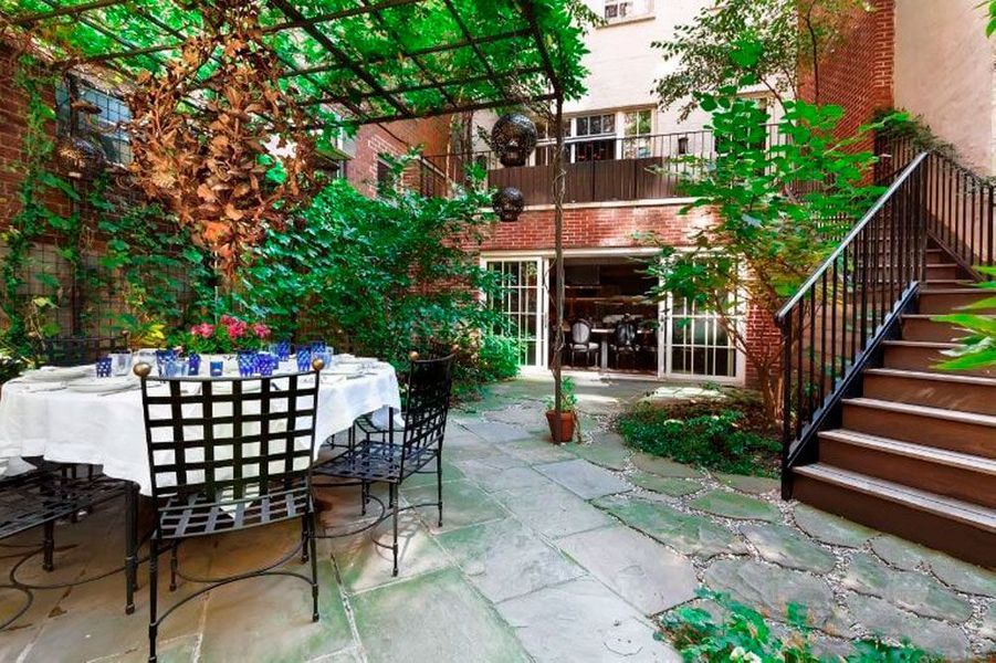 Le jardin de la maison de Meryl Streep à New York