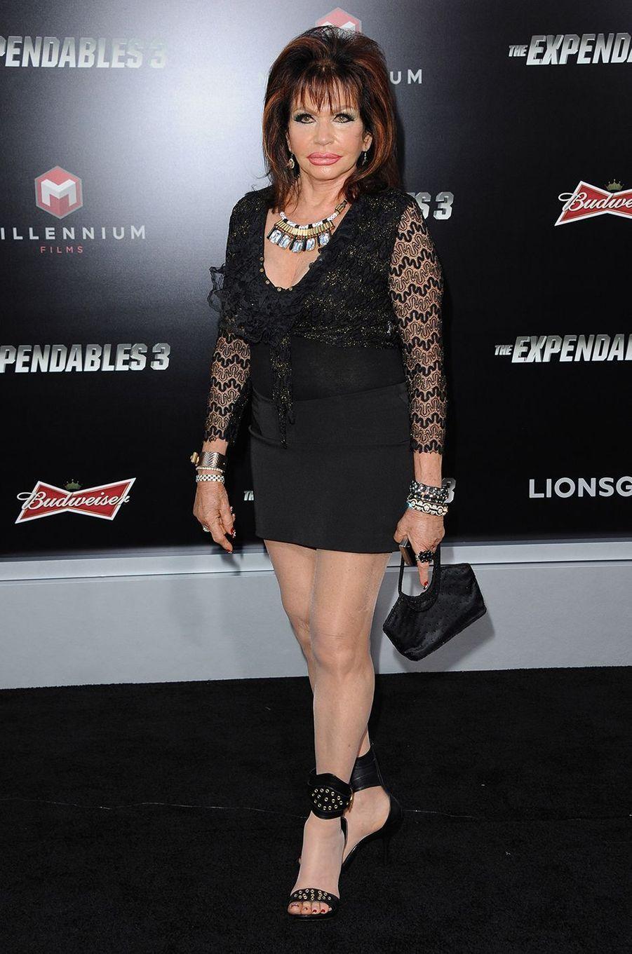 Jackie Stallone lors de sa dernière apparition publique officielle pour la première du film«The Expendables 3» à Los Angeles en 2014