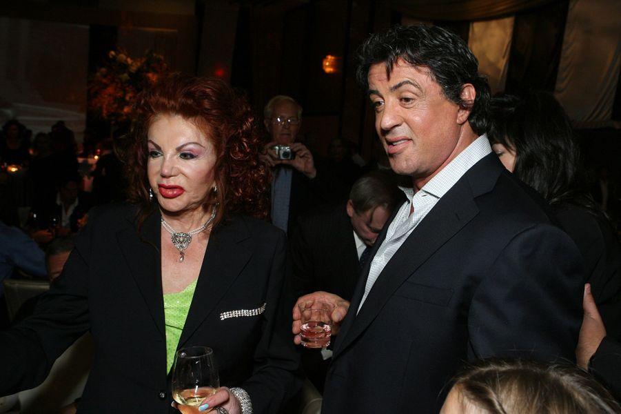 Jackie et Sylvester Stallone à la première du film«Rocky Balboa» à Los Angeles en 2006
