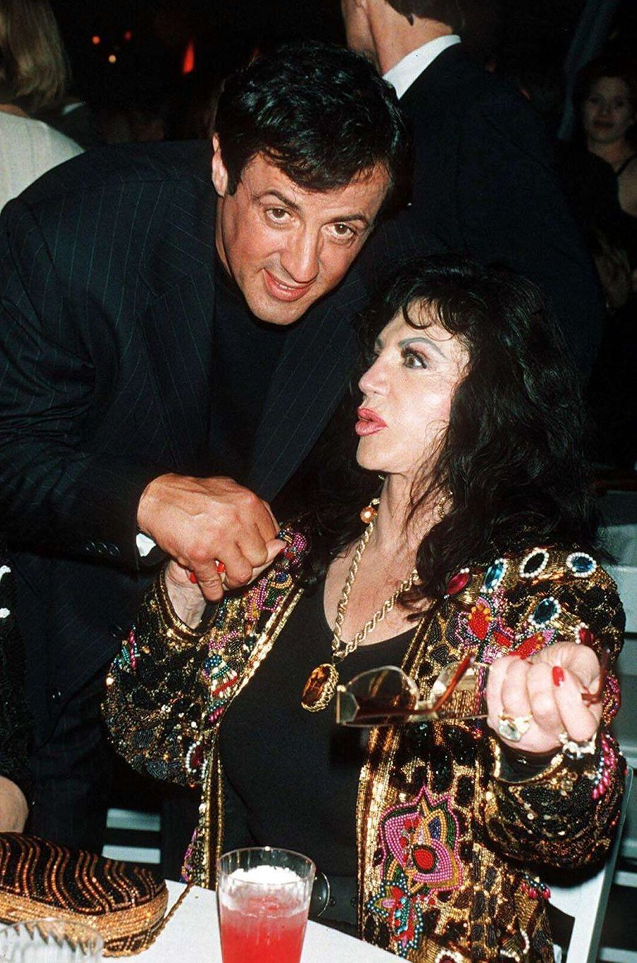 Sylvester etJackie Stallone lors d'une soirée à New York en 1996