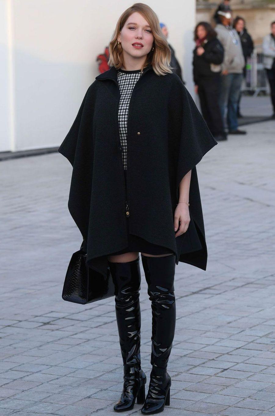 La jeune maman Léa Seydoux au défilé Louis Vuitton.