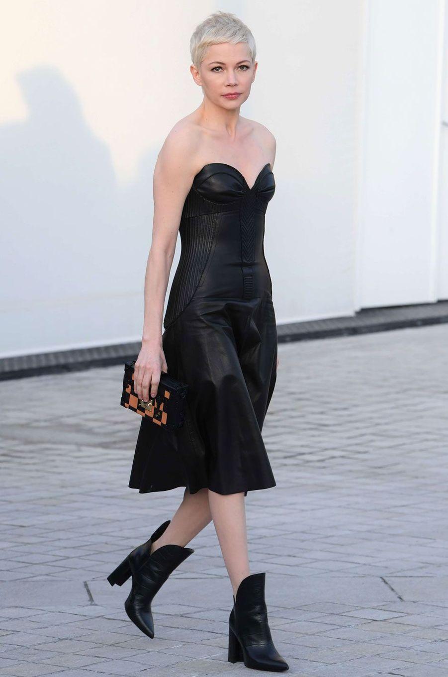 L'actrice Michelle Williams au défilé Louis Vuitton.