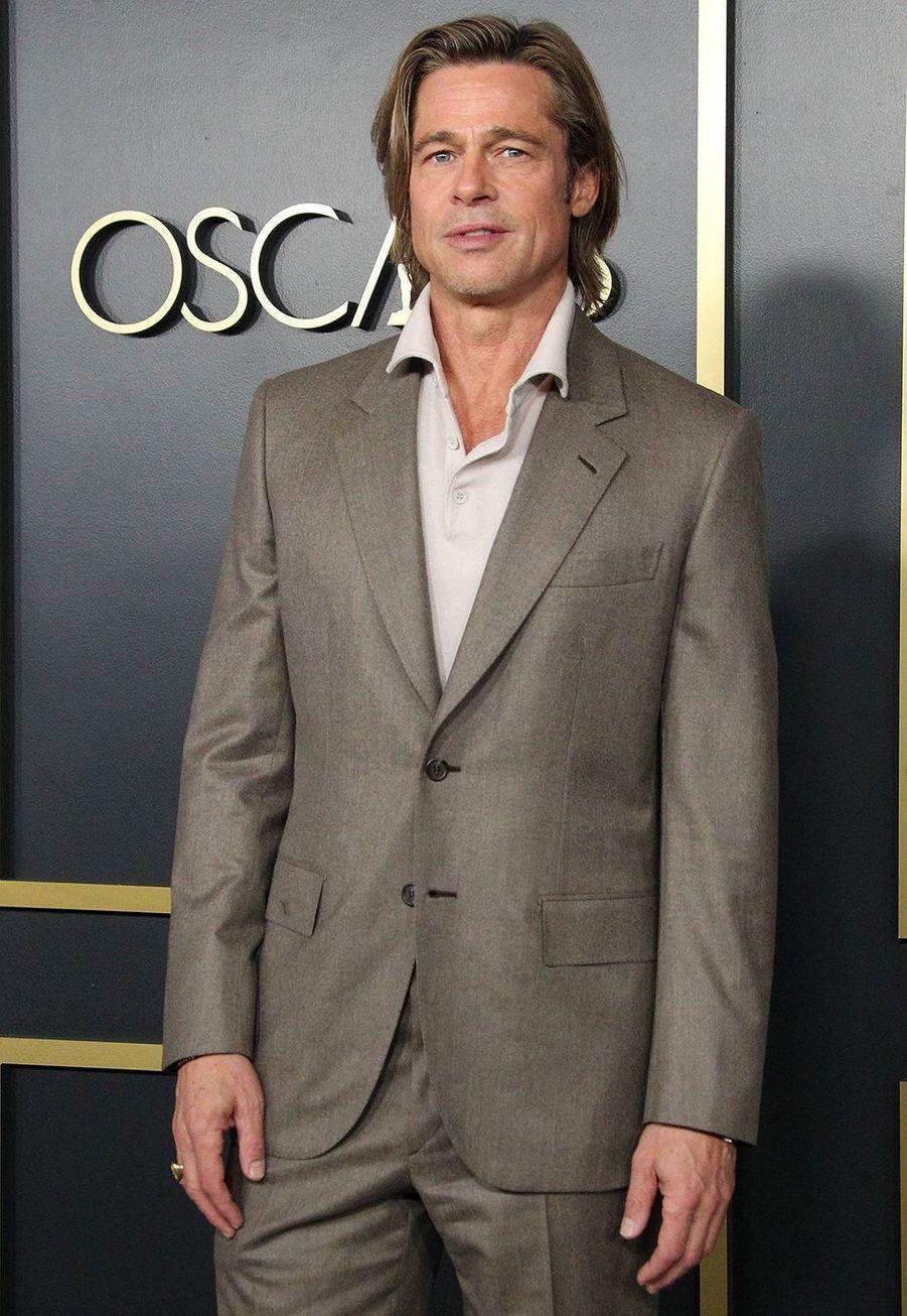 Brad Pitt au déjeuner des nommés aux Oscars à Hollywood le 27 janvier 2020