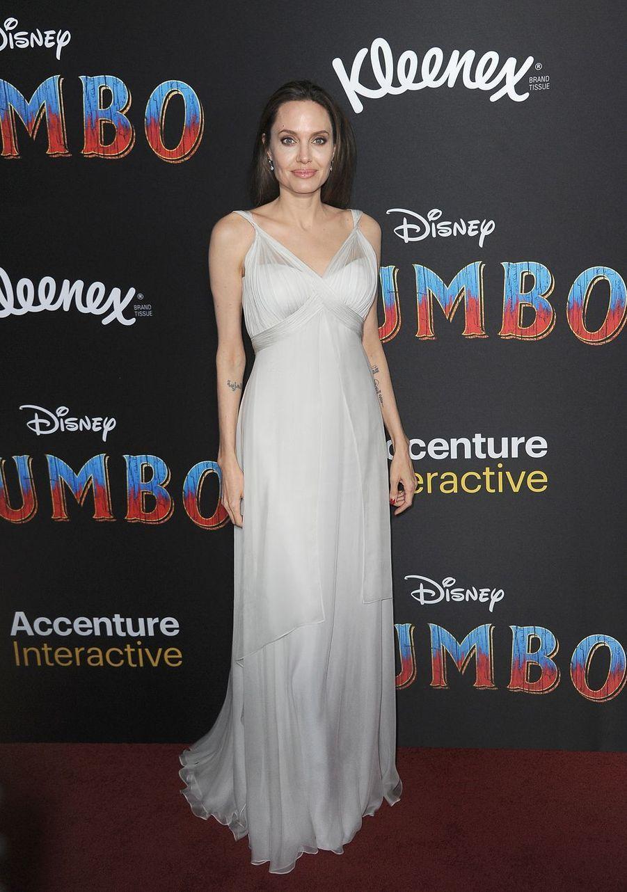 Angelina Jolie à la première de«Dumbo» en mars 2019