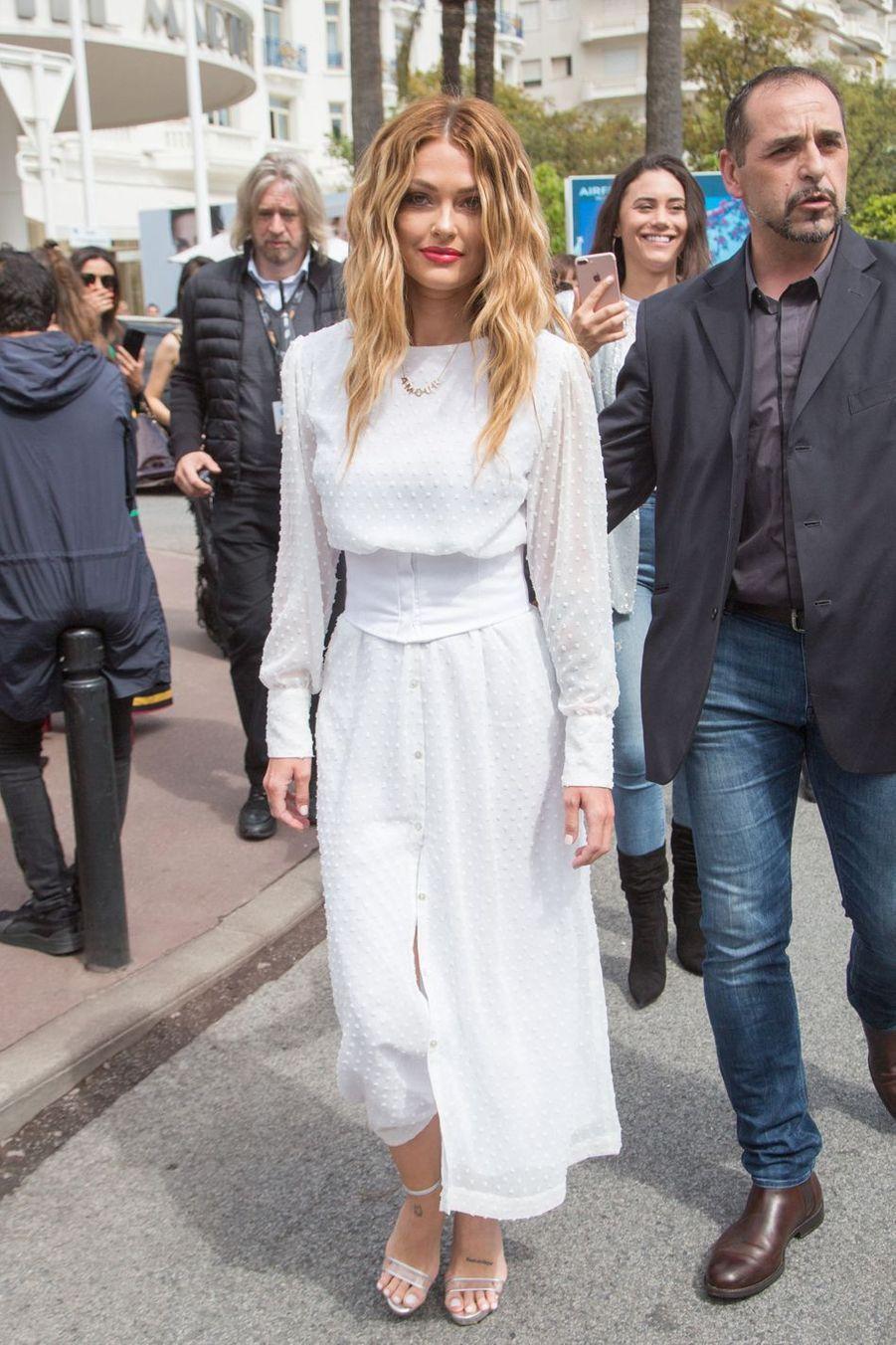 Caroline Receveur au Festival de Cannes en mai 2019.