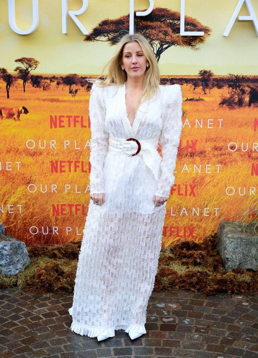 Ellie Goulding à la première de«Our Planet», en avril 2019