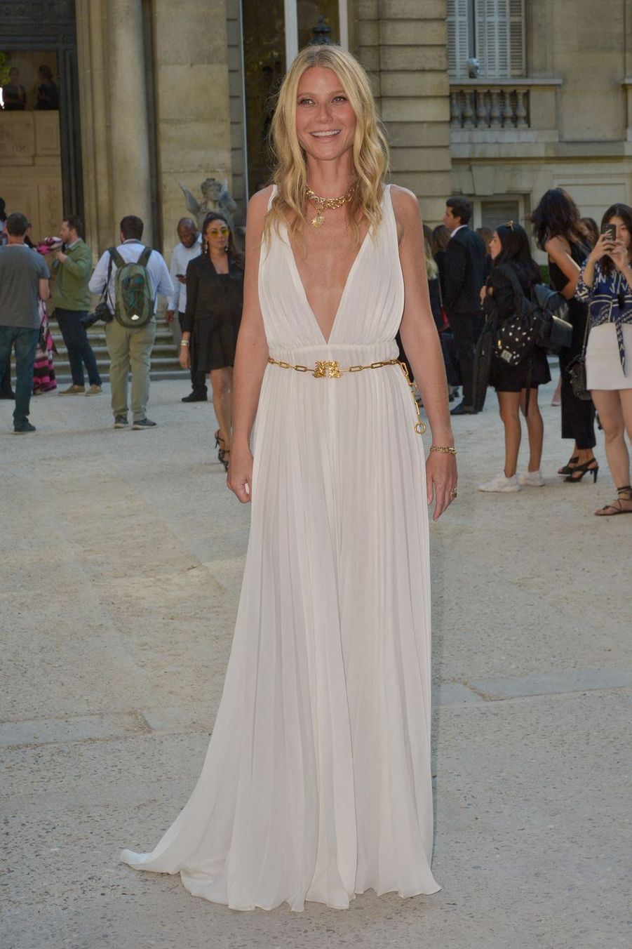 Gwyneth Paltrow à la Fashion Week de Paris en juillet 2019.
