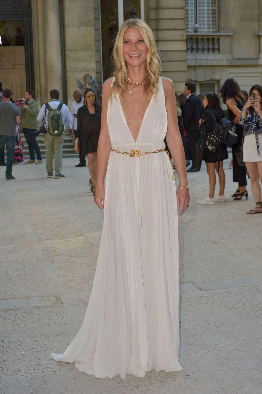 Gwyneth Paltrow à la Fashion Week de Paris en juillet 2019.