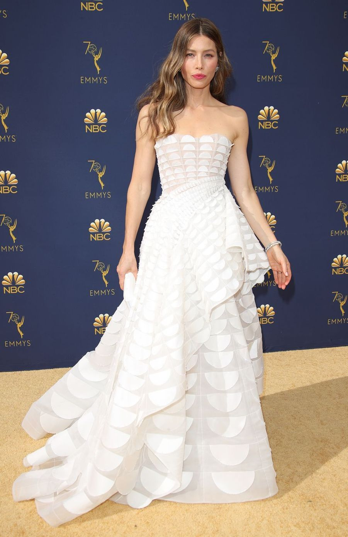Jessica Biel à la 70ème cérémonie des Emmy Awards en septembre 2018.