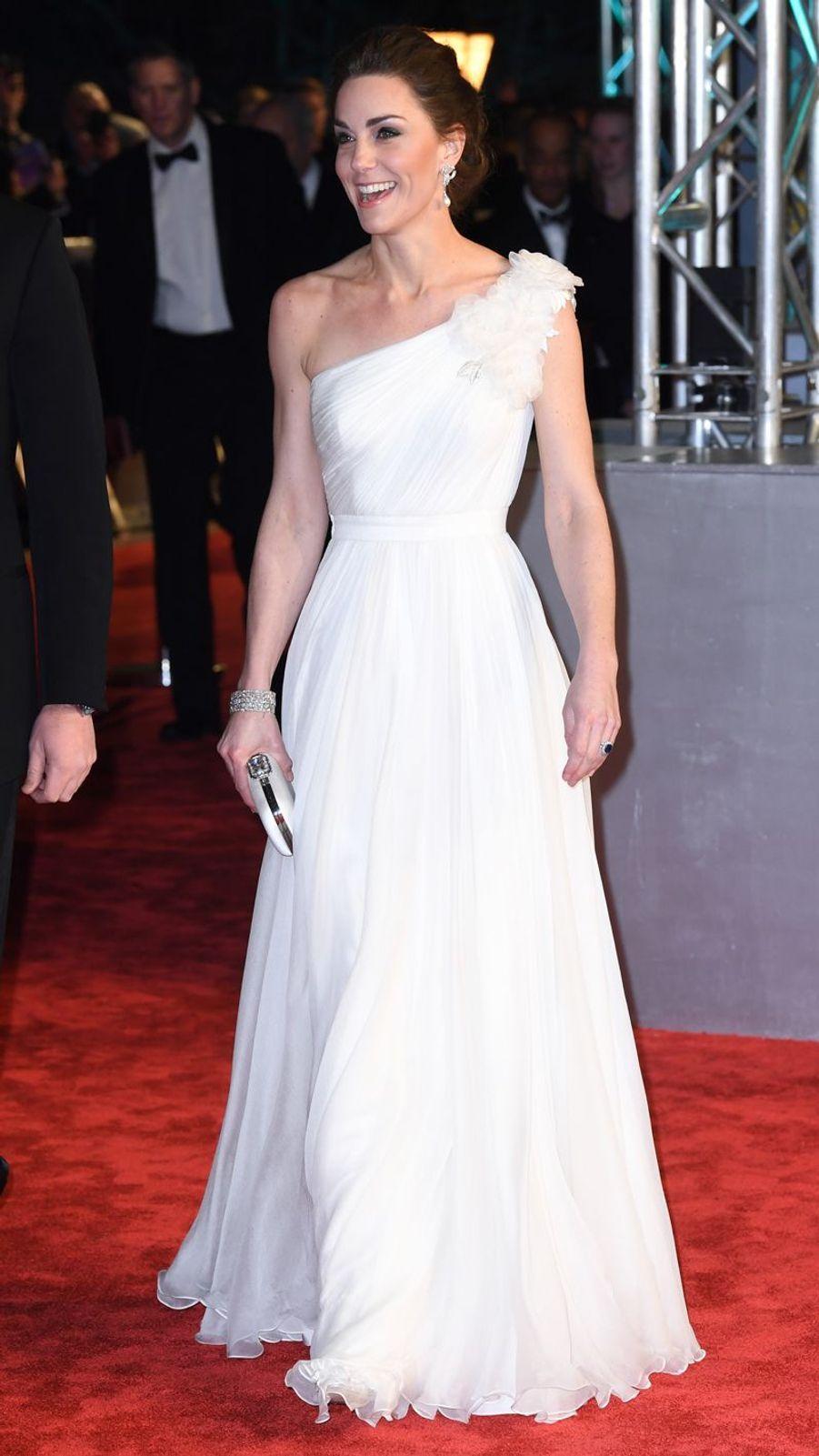 Kate Middleton à la 72ème cérémonie desBritish Academy Film Awards, en février 2019.